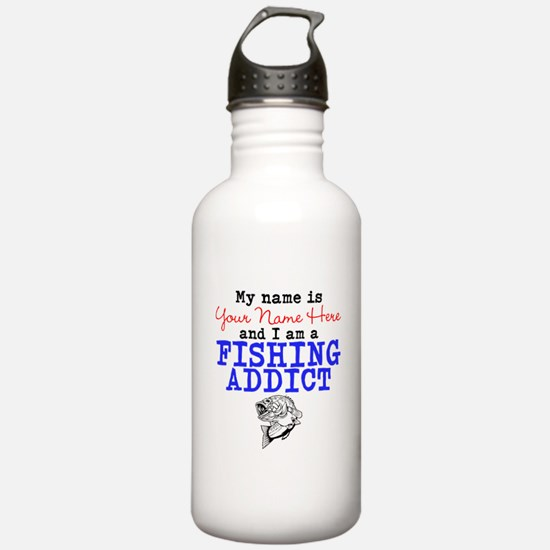 Fishing Addict Water Bottle