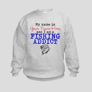 Fishing Addict Kids Sweatshirt