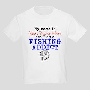 Fishing Addict Kids Light T-Shirt