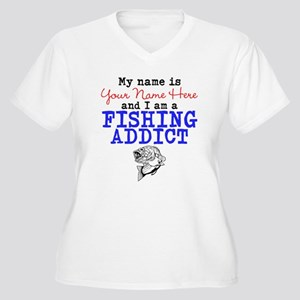 Fishing Addict Women's Plus Size V-Neck T-Shirt