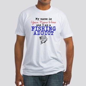 Fishing Addict Fitted T-Shirt