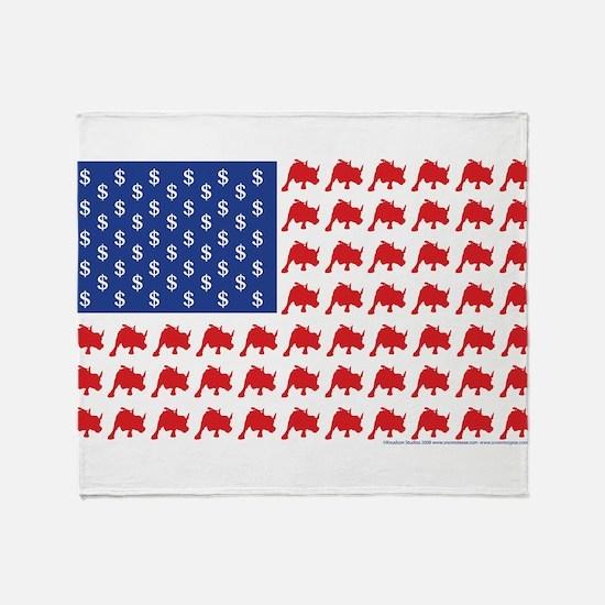 Bull-Flag.png Throw Blanket