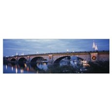 Arch bridge across a river, Lake Havasu, London Br Canvas Art