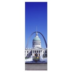 Old Courthouse and St Louis Arch St Louis MO Framed Print