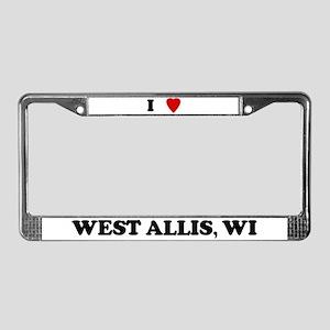 I Love West Allis License Plate Frame