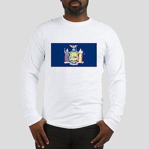 New York State Flag White Long-Sleeve Shirt