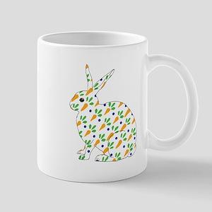 Carrot Calico Rabbit Mug