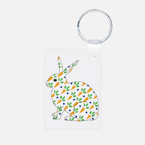 Carrot Calico Rabbit Keychains