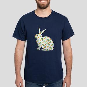 Carrot Calico Rabbit Dark T-Shirt