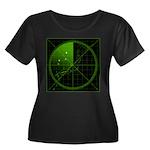 Radar1 Women's Plus Size Scoop Neck Dark T-Shirt