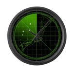 Radar1 Large Wall Clock