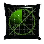 Radar1 Throw Pillow