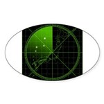 Radar1 Sticker (Oval 10 pk)