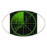Radar1 Sticker (Oval 50 pk)