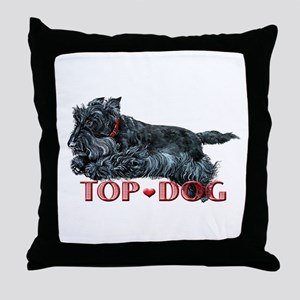 Top Dog Scottish Terrier Throw Pillow