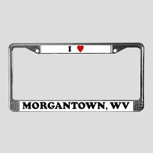I Love Morgantown License Plate Frame