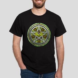 Celtic Earth Dragon Pentacle Dark T-Shirt