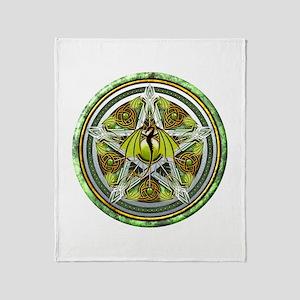 Celtic Earth Dragon Pentacle Throw Blanket