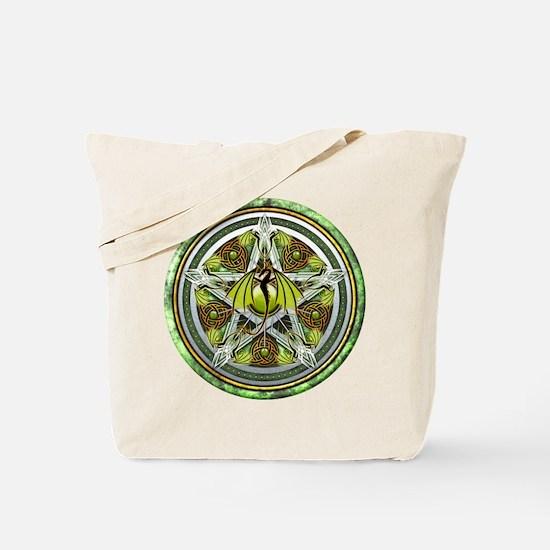 Celtic Earth Dragon Pentacle Tote Bag