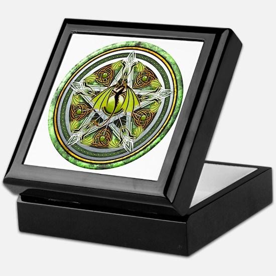 Celtic Earth Dragon Pentacle Keepsake Box