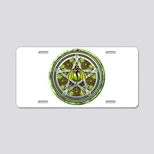 Celtic Earth Dragon Pentacle Aluminum License Plat