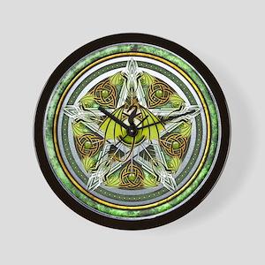 Celtic Earth Dragon Pentacle Wall Clock