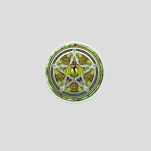 Celtic Earth Dragon Pentacle Mini Button