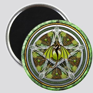Celtic Earth Dragon Pentacle Magnet