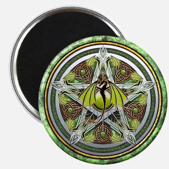 Celtic Earth Dragon Pentacle Magnet