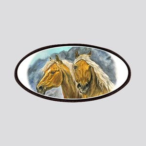 Painting of Haflinger horses Patches