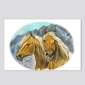 Painting of Haflinger horses Postcards (Package of