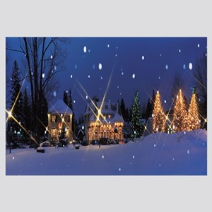 Holiday lights Laurentide Quebec Canada