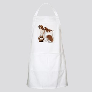 two brittaany spaniels Apron