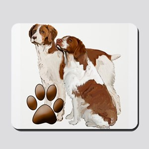 two brittaany spaniels Mousepad