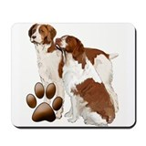 Brittany spaniel Mouse Pads
