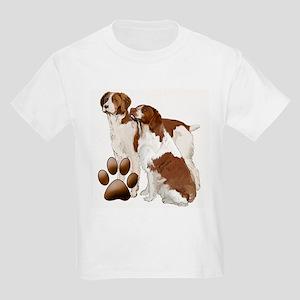 two brittaany spaniels Kids Light T-Shirt