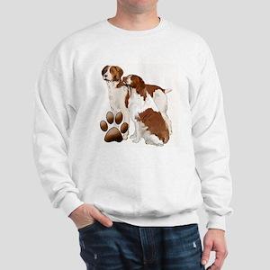 two brittaany spaniels Sweatshirt