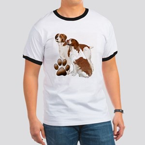 two brittaany spaniels Ringer T