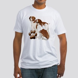 two brittaany spaniels Fitted T-Shirt