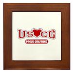 USCG Girlfriend Framed Tile