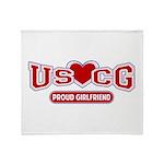 USCG Girlfriend Throw Blanket