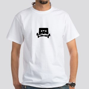 Pirate Cassette White T-Shirt