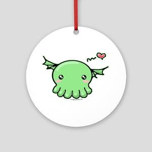 Sweethulhu cute Cthulhu Ornament (Round)