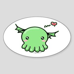 Sweethulhu cute Cthulhu Sticker (Oval)