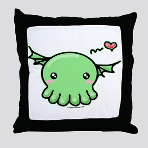 Sweethulhu cute Cthulhu Throw Pillow