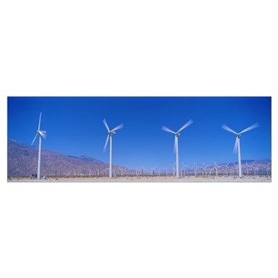 Wind Turbines near Palm Springs CA Poster