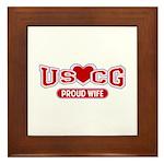 USCG Wife Framed Tile