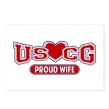 USCG Wife Postcards (Package of 8)