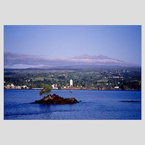 Mauna Kea and Hilo Bay HI