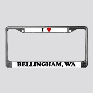 I Love Bellingham License Plate Frame